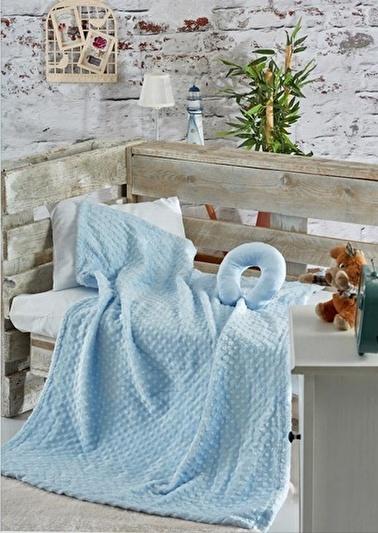 Komfort Home İpeksoft Tomurcuk Bebek Battaniyesi Boyunluk Hediyeli Renkli